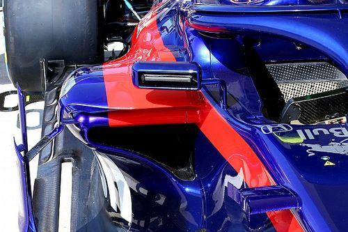 Toro Rosso copia design dos espelhos da Ferrari