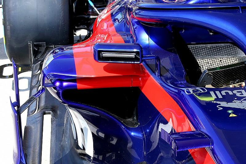 Toro Rosso скопировала у Ferrari решение зеркал заднего вида