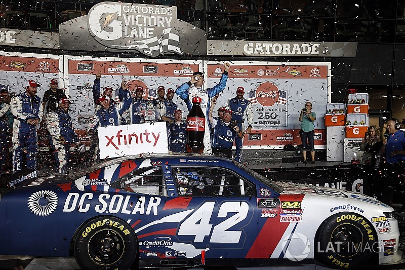 Kyle Larson takes wild Daytona Xfinity win as Haley gets disqualified