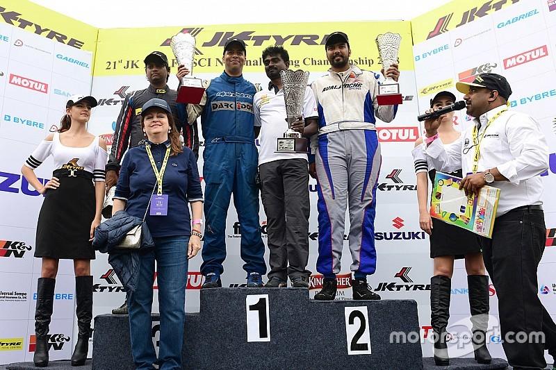 Coimbatore JK Tyre: Prasad, Khanna, Rangasamy share Formula LGB spoils