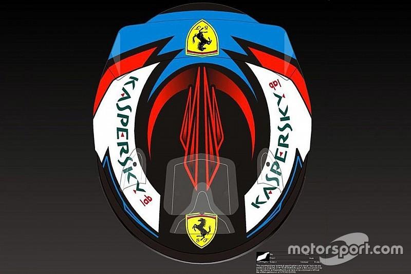 Raikkonen presenta su casco para la temporada 2018 de F1