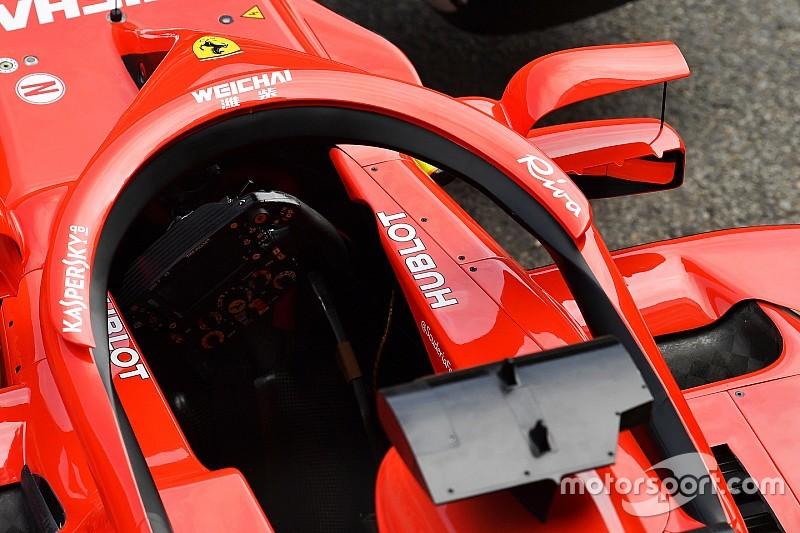 Részletes képgaléria a Ferrari Halóra szerelt visszapillantójáról