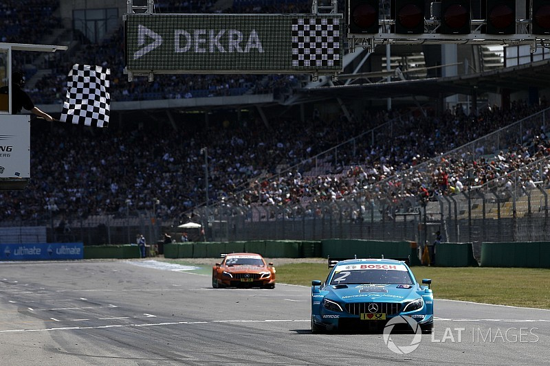 Hockenheim DTM: Paffett resists Auer's challenge for win