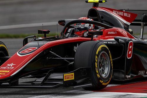 F2 Silverstone: Russell op eenzame hoogte in training