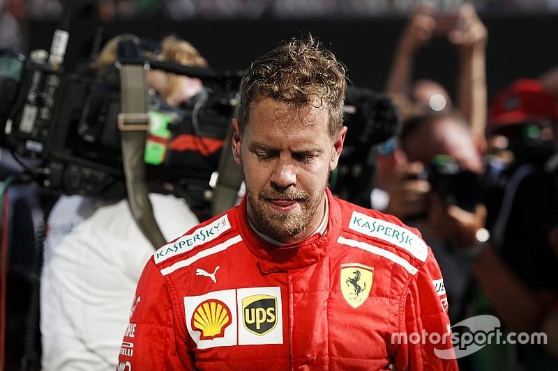 "Vettel: ""Tuve suerte de acabar tras el toque con Bottas"""