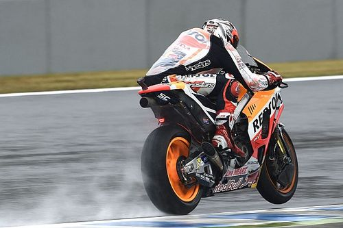Australian MotoGP: Marquez dominates wet FP3 despite crash