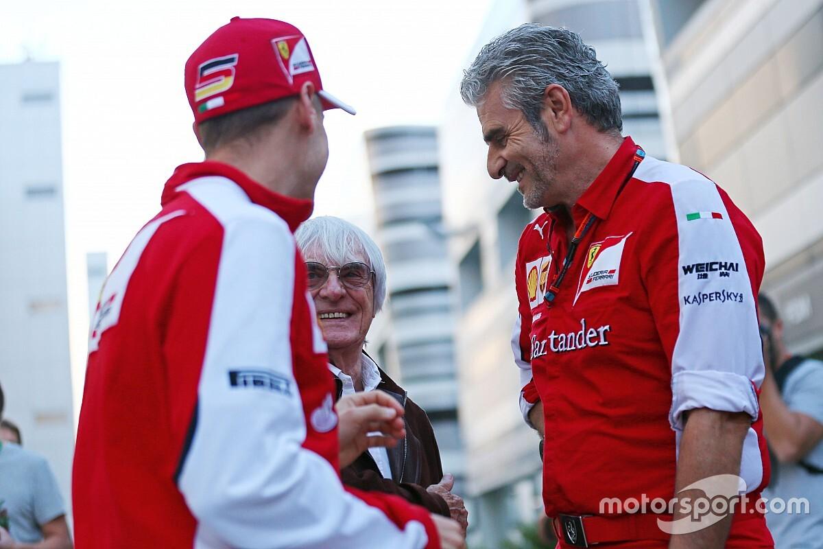 Ecclestone espera que Ferrari juegue limpio con Vettel