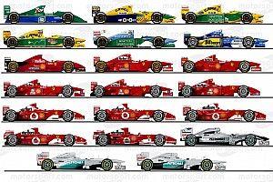 Redécouvrez les 20 F1 pilotées en Grand Prix par Michael Schumacher