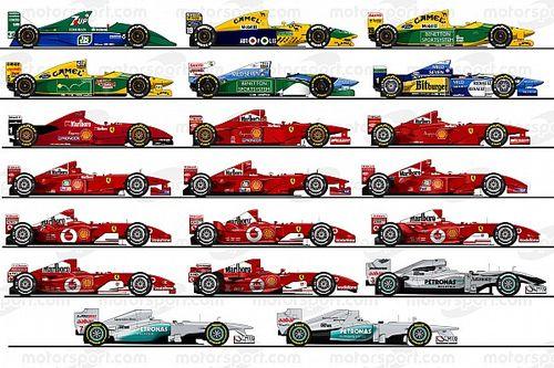Los 20 autos de Michael Schumacher en la F1