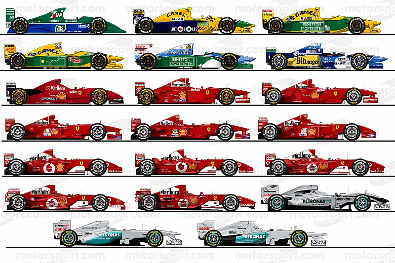 Recuerda los 20 F1 pilotados por Michael Schumacher