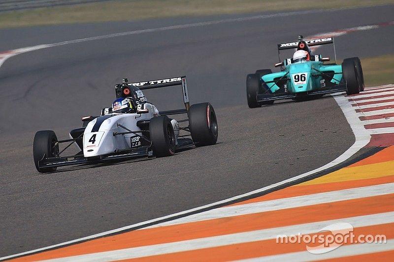 Buddh MRF Challenge: Newey wins finale, Schumacher crashes out