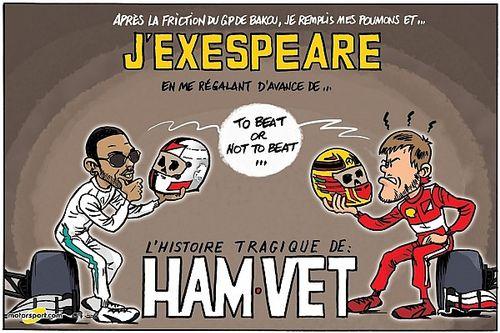 L'humeur de Cirebox - Hamilton et Vettel inspirent Shakespeare