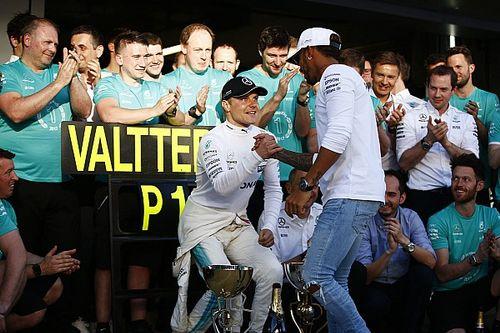 Mercedes yakin tak akan ada konflik internal Bottas-Hamilton