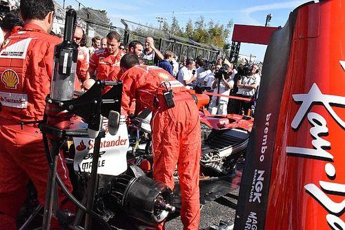 Ferrari had te weinig tijd om bougie Vettel te vervangen