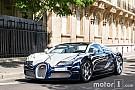 Auto Photos - La Bugatti Veyron Grand Sport L'Or Blanc surprise à Paris