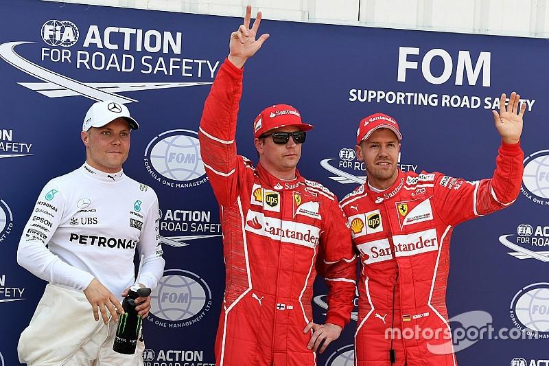 Resultado de imagen para Kimi Raikkonen logra la pole en 1-2 de Ferrari en Mónaco