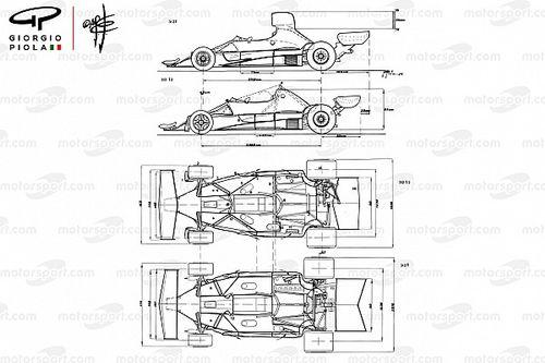 Dibujos técnicos de Piola de los autos de Lauda en F1