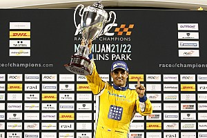 General Race report Montoya takes debut Race Of Champions win