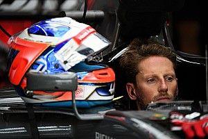 Tweede training afgebroken na crash Grosjean door losgekomen putdeksel