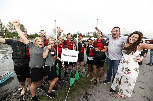McLaren triumphs in revived Montreal F1 teams' raft race