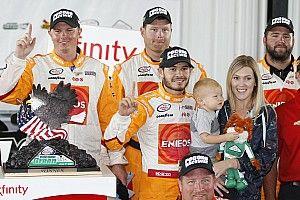 Kyle Larson wins rain-shortened Xfinity race at Pocono