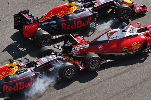 Vettel vents fury after Kvyat double hit