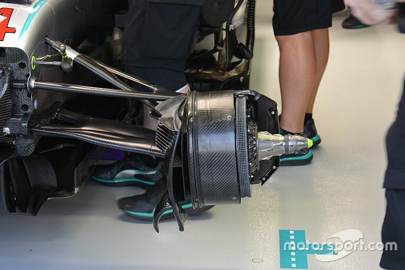 Технический брифинг: тормоза Mercedes W07