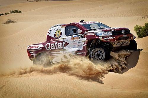 رالي أبوظبي الصحراوي: الصدارة للعطية في السيارات وبرايس في الدراجات