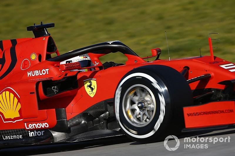 Vettel vezeti az első tesztnapot a Ferrarival Barcelonában, Räikkönen 4.