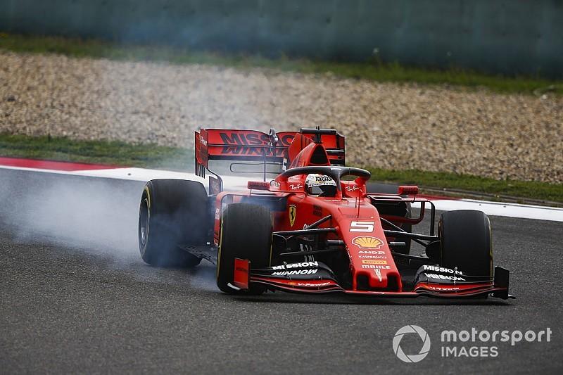 Vettel broni Ferrari