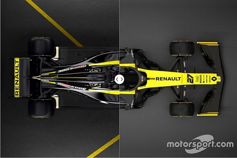 La comparación del Renault R.S.18 y R.S.19