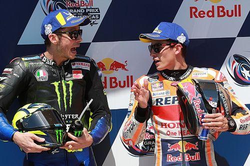Baris depan, Rossi akan coba tempel Marquez