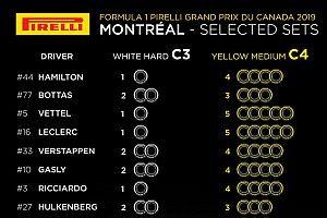Pirelli раскрыла выбор командами шин на Гран При Канады