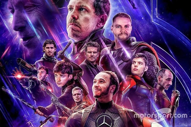 """F1 entra na onda """"Vingadores"""" e cria seu próprio cartaz"""