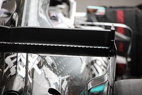 Mercedes reprend le design dentelé de l'aileron arrière