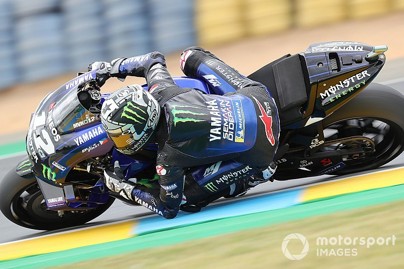 Le Mans MotoGP: Vinales tops wet FP3, Rossi and Rins to Q1