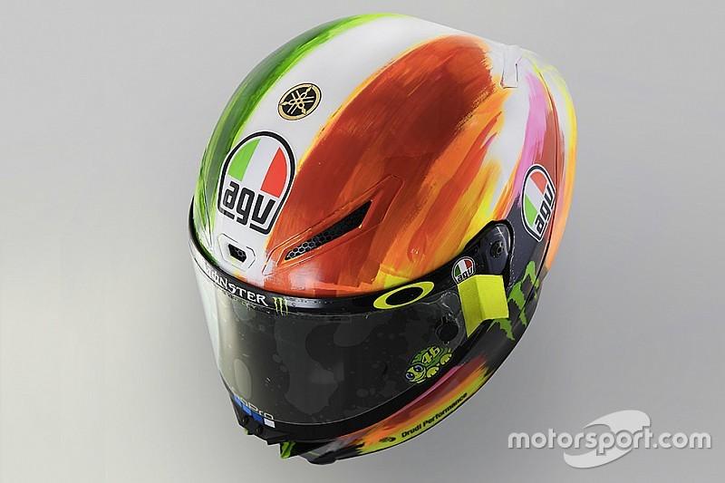 In beeld: Rossi's speciale helm voor de GP van Italië