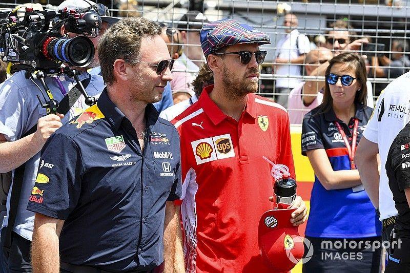 """Horner réfute le retour de Vettel : """"Il restera chez Ferrari même en 2020"""""""