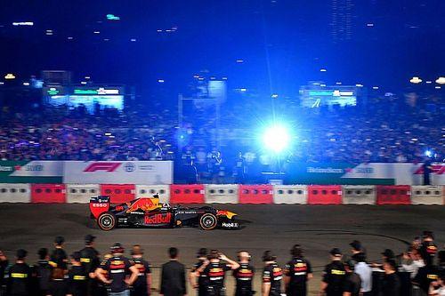 Red Bull Racing verzorgt fraaie demonstratie in Hanoi