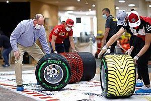 Una gomma per pennello: ecco come la F1 diventa arte
