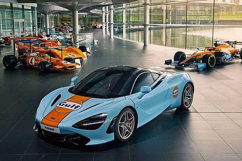 El McLaren 720S estrena la decoración de Gulf, pintada a mano