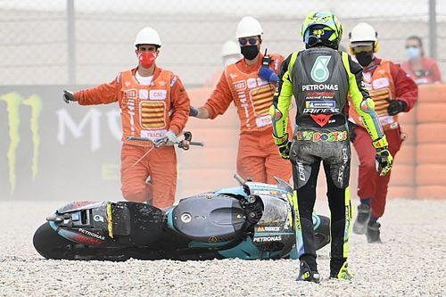 ロッシ「もっといいレースを期待していたのに……」調子上向いたカタルニアGPでの転倒リタイアに悔しさ