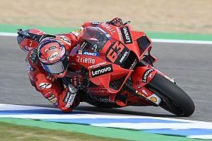 Bagnaia cierra arriba el viernes del MotoGP en Jerez