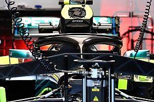 Mercedes: Bottas fa gli esperimenti e prova l'Halo con tre soffiaggi sull'aureola