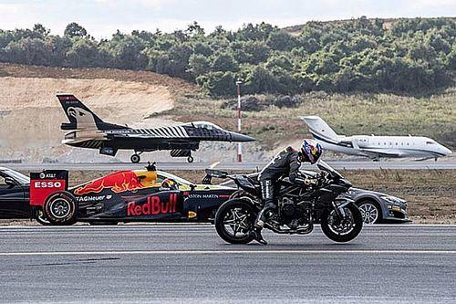 Watch a Formula 1 car race a Tesla, superbike, fighter jet & more