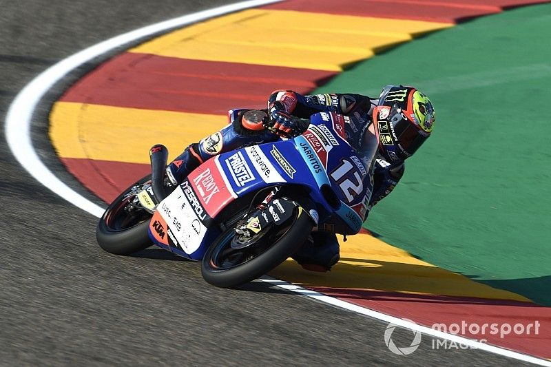 Moto3 Aragon: Bezzecchi voor Bastianini in derde training