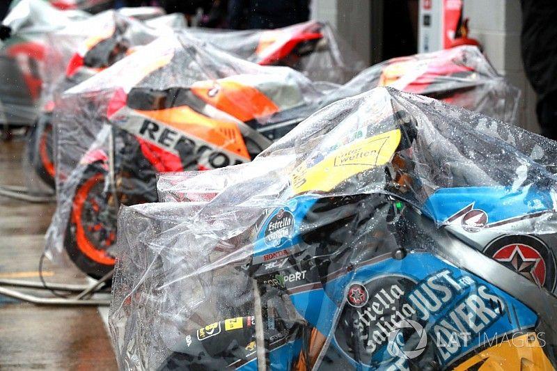 Starkregen in Silverstone: MotoGP-Rennen abgesagt
