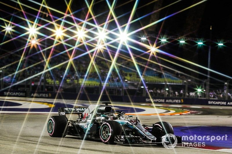 La grille de départ du GP de Singapour