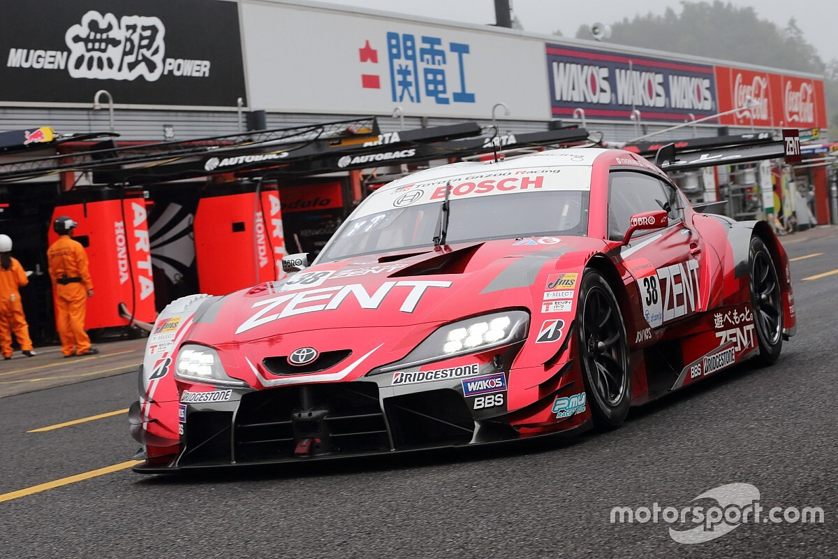 SGT第4戦もてぎ GT500予選|38号車ZENTが雨の中で一発の速さをみせ今季初PP獲得