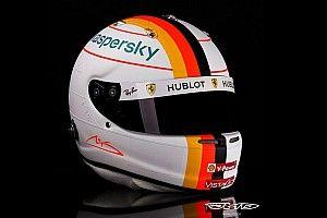 Fotos: los detalles 3D del casco de Vettel homenaje a Schumacher